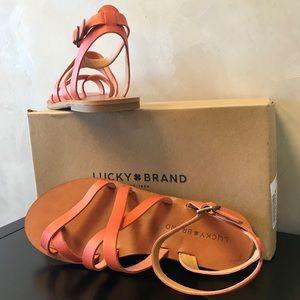 NIB Lucky Brand Aubree Sandals in Fiesta